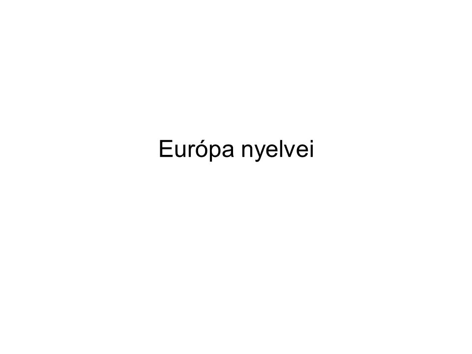 Európa nyelvei