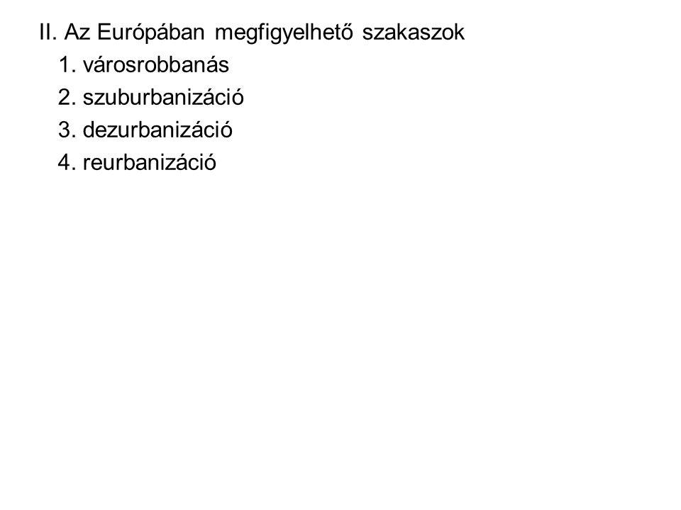 II. Az Európában megfigyelhető szakaszok