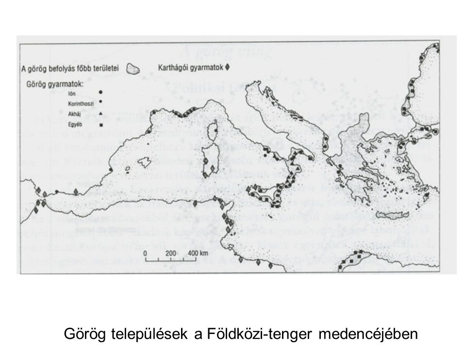 Görög települések a Földközi-tenger medencéjében