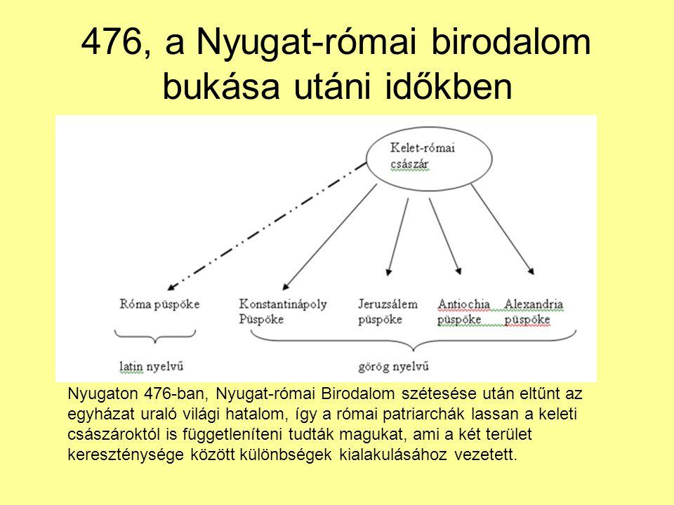 476, a Nyugat-római birodalom bukása utáni időkben