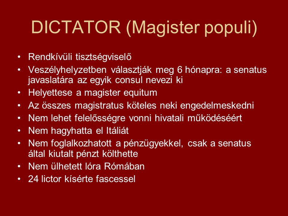 DICTATOR (Magister populi)