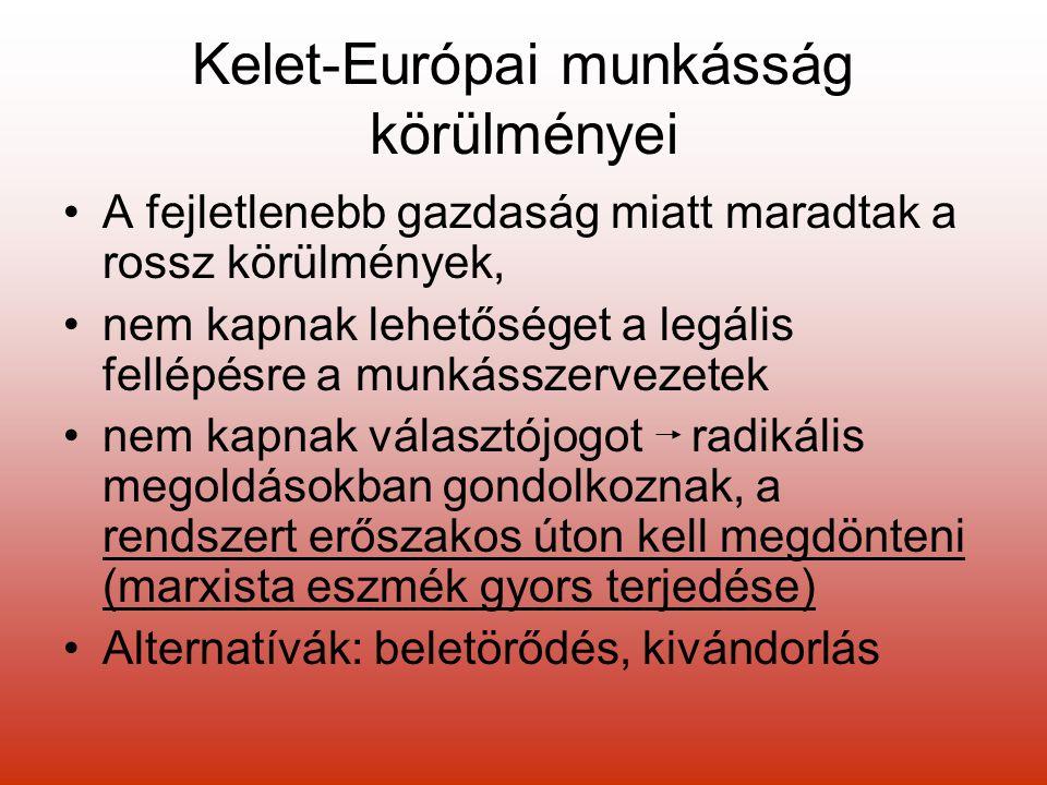 Kelet-Európai munkásság körülményei
