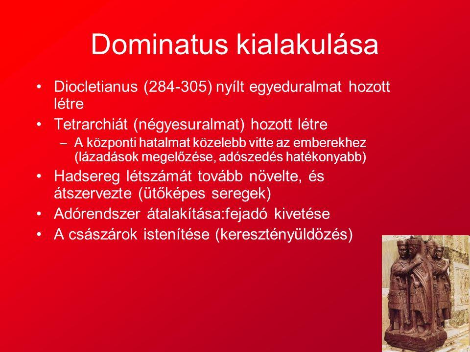 Dominatus kialakulása