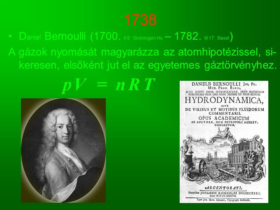 1738 Daniel Bernoulli (1700. II.9. Groningen Ho – 1782. III.17. Basel)