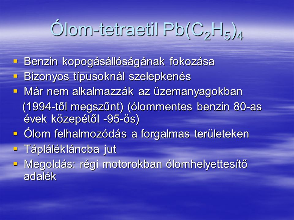Ólom-tetraetil Pb(C2H5)4