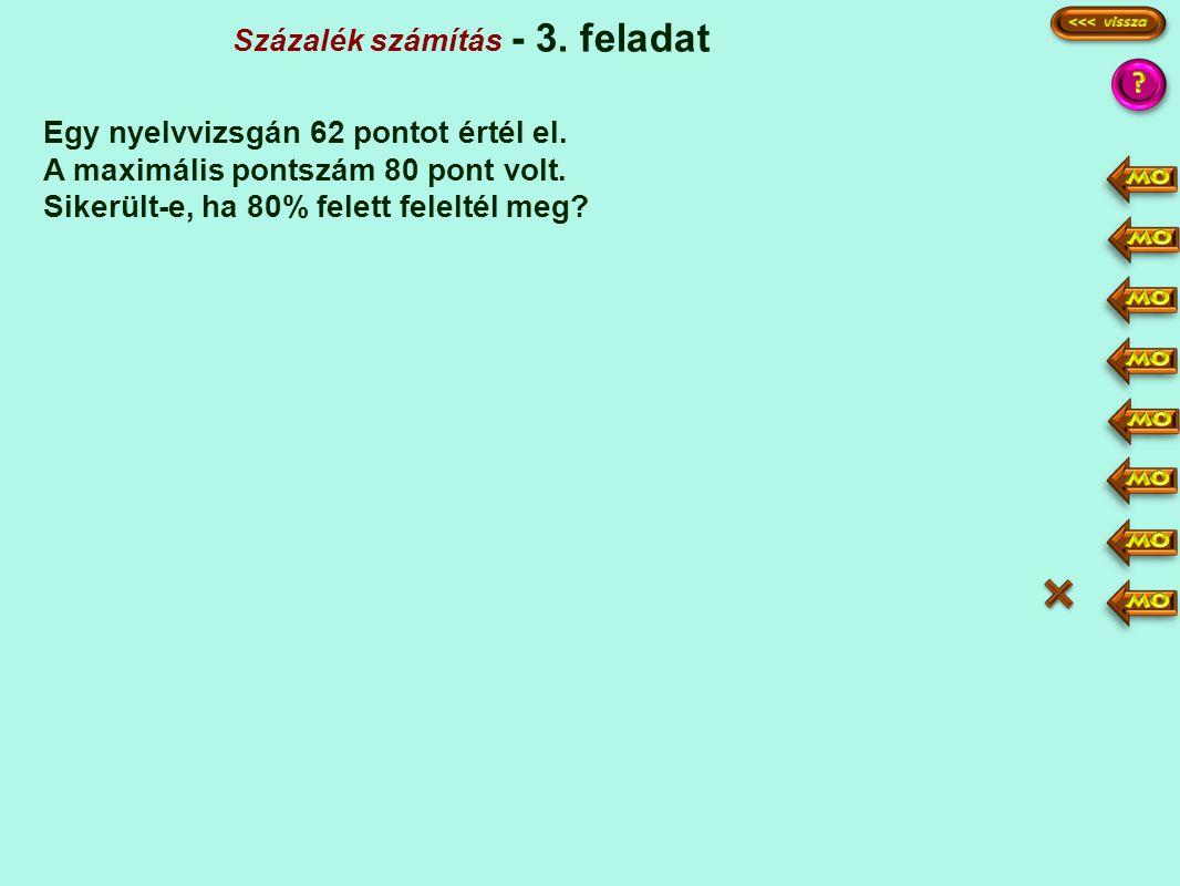 Százalék számítás - 3. feladat e a · p