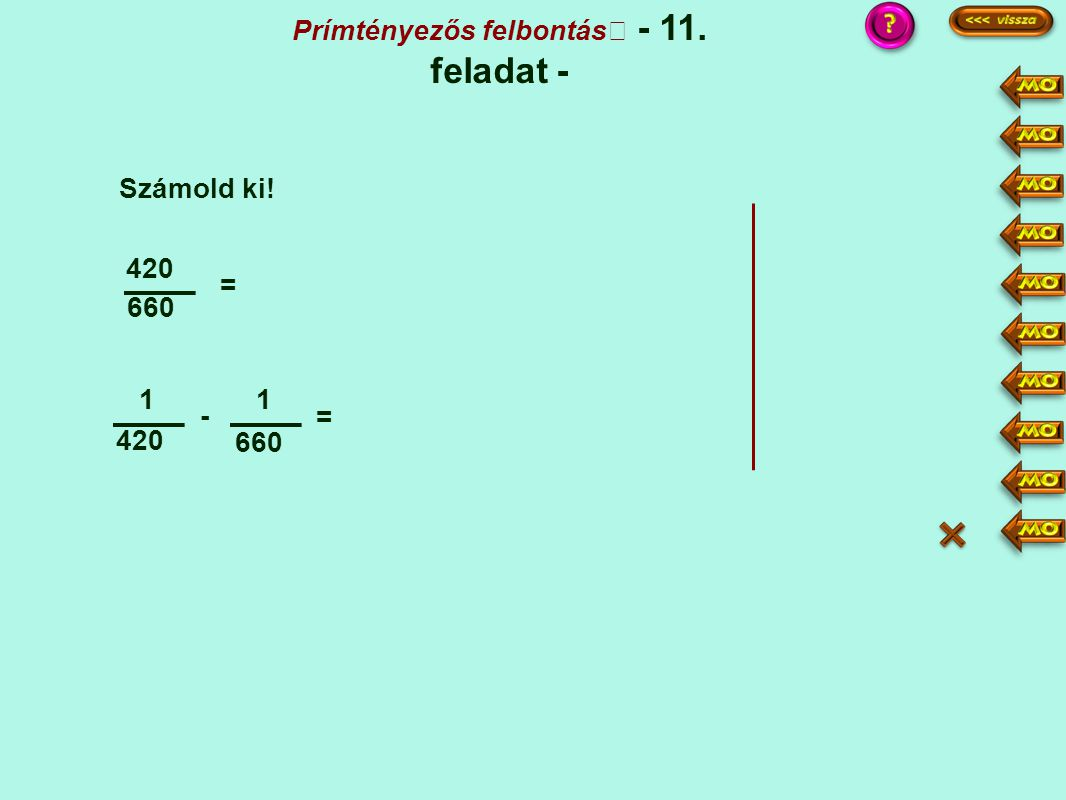 Prímtényezős felbontás - 11. feladat -