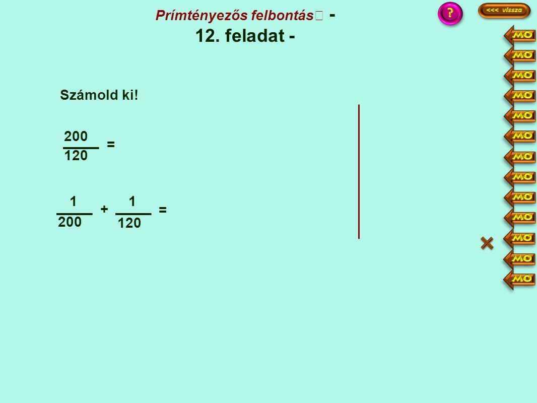 Prímtényezős felbontás - 12. feladat -