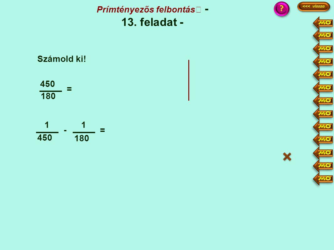 Prímtényezős felbontás - 13. feladat -