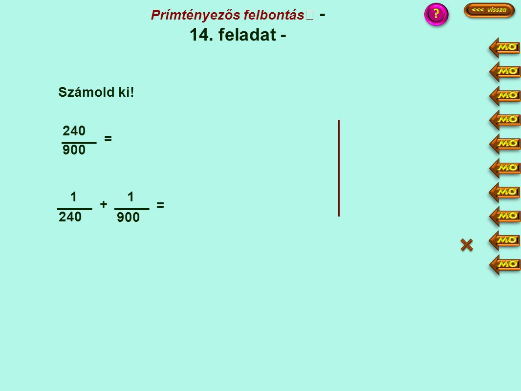 Prímtényezős felbontás - 14. feladat -