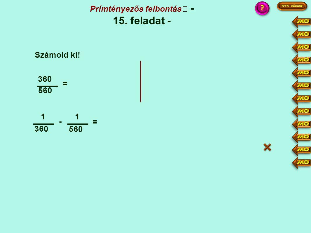 Prímtényezős felbontás - 15. feladat -
