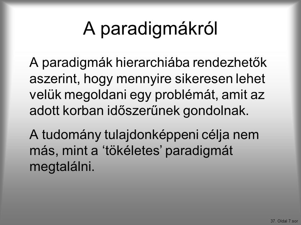 A paradigmákról