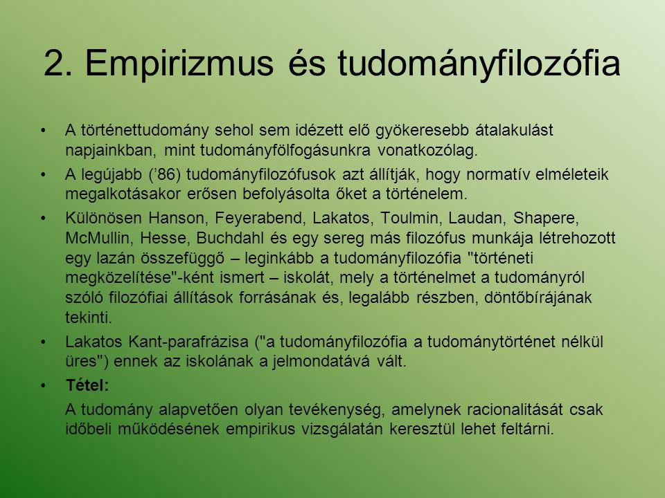 2. Empirizmus és tudományfilozófia