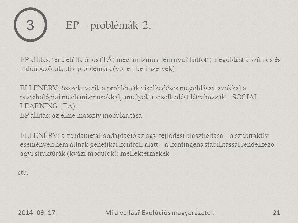 3 EP – problémák 2.