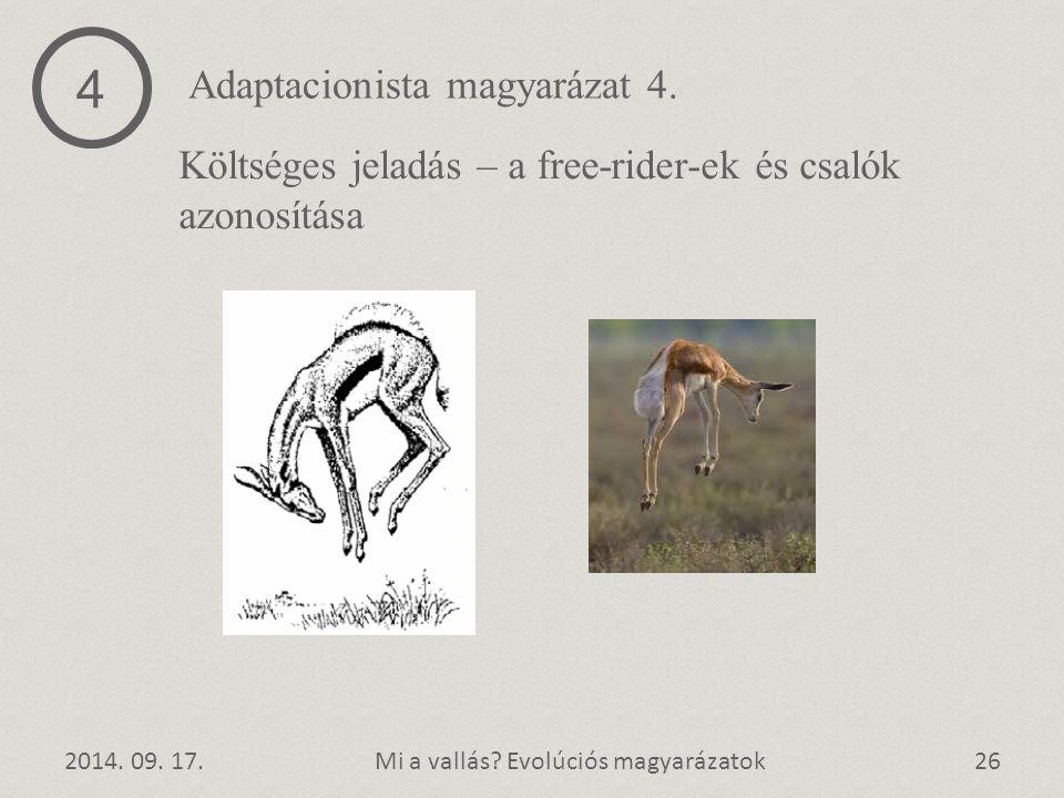 4 Adaptacionista magyarázat 4.