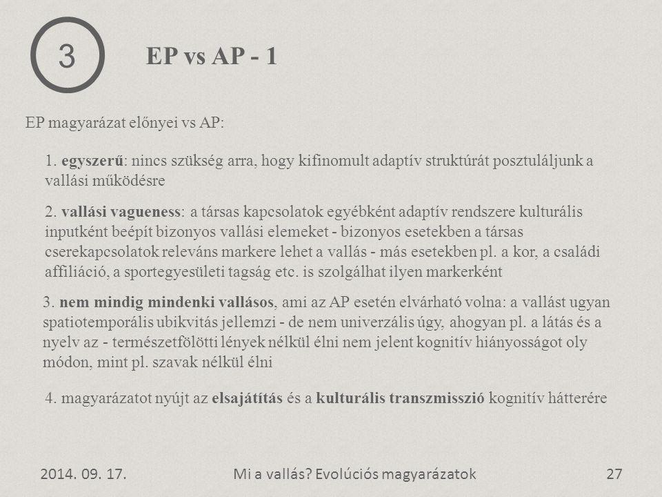 3 EP vs AP - 1 EP magyarázat előnyei vs AP: