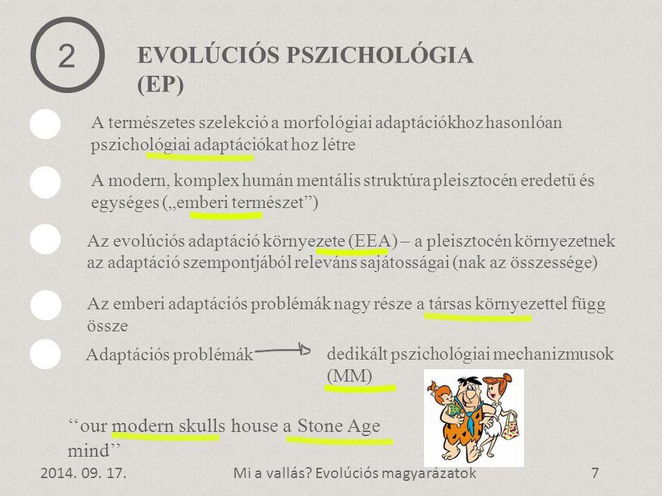 2 EVOLÚCIÓS PSZICHOLÓGIA (EP)