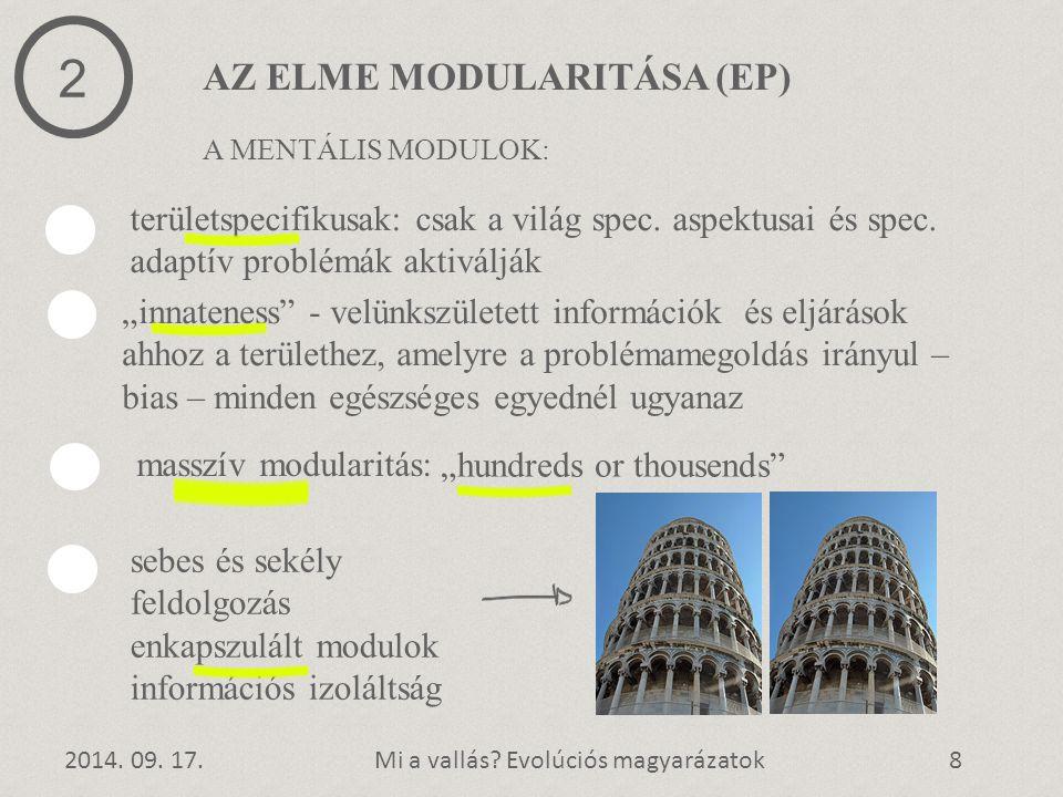 2 AZ ELME MODULARITÁSA (EP)