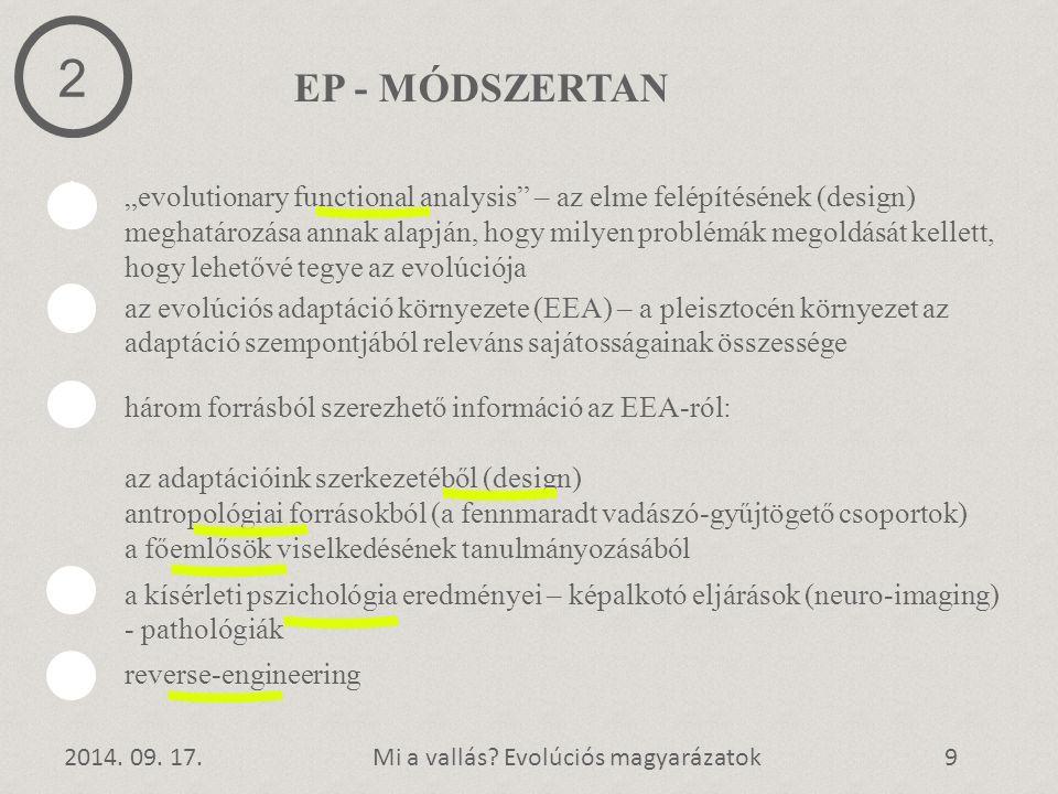 2 EP - MÓDSZERTAN.