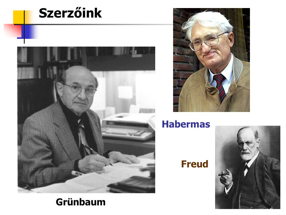 Szerzőink Habermas Freud Grünbaum