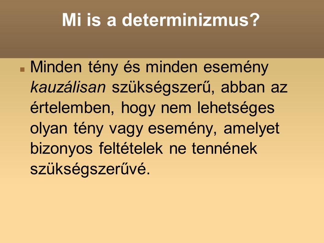 Mi is a determinizmus