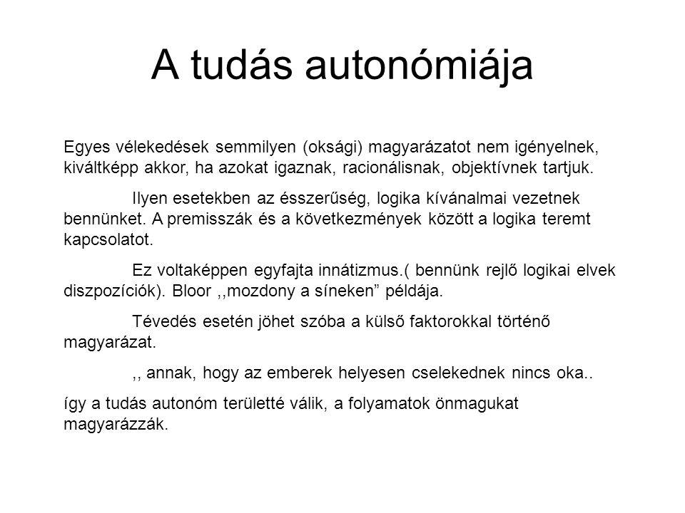 A tudás autonómiája