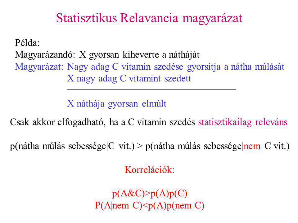 Statisztikus Relavancia magyarázat