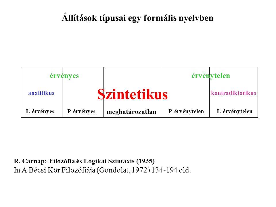 Állítások típusai egy formális nyelvben