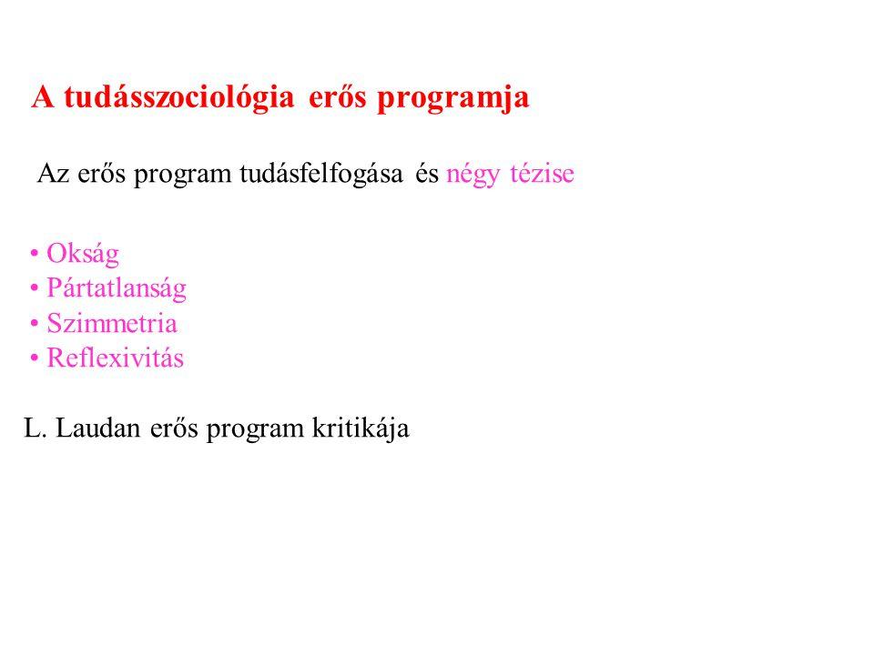 A tudásszociológia erős programja