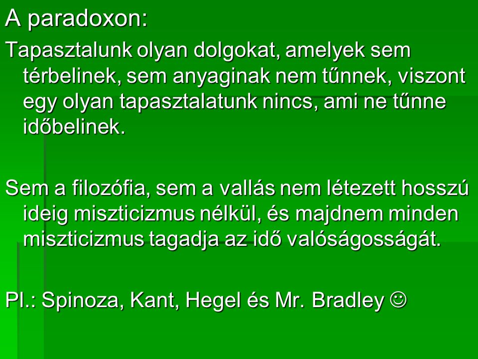 A paradoxon: