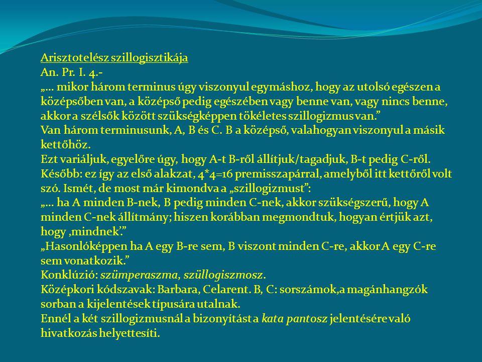 Arisztotelész szillogisztikája