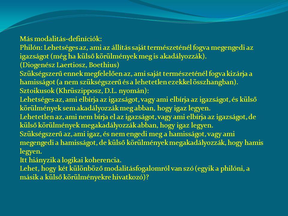 Más modalitás-definíciók: