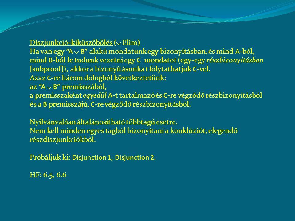 Diszjunkció-kiküszöbölés ( Elim)