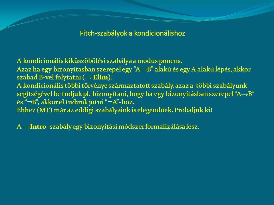 Fitch-szabályok a kondicionálishoz