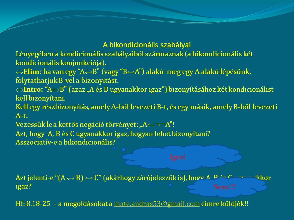 A bikondicionális szabályai