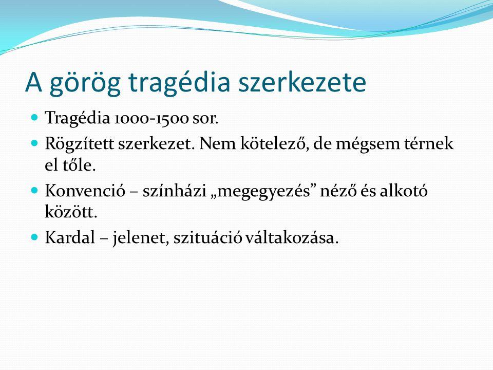 A görög tragédia szerkezete