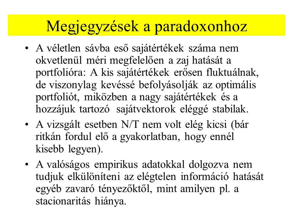 Megjegyzések a paradoxonhoz