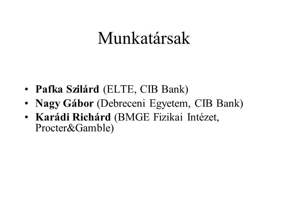 Munkatársak Pafka Szilárd (ELTE, CIB Bank)