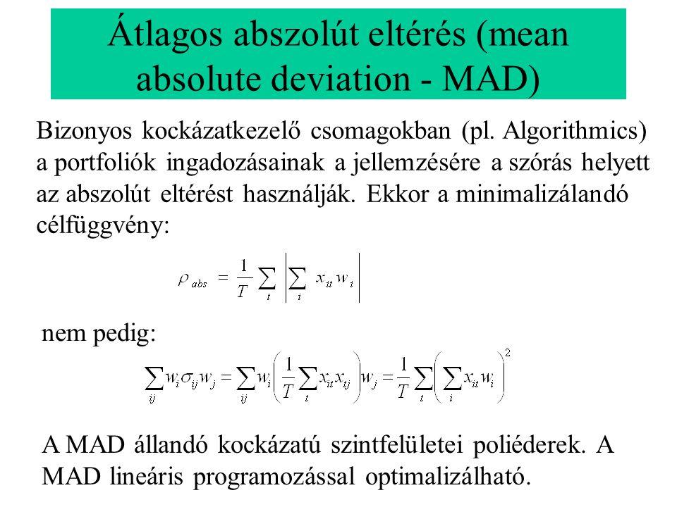 Átlagos abszolút eltérés (mean absolute deviation - MAD)
