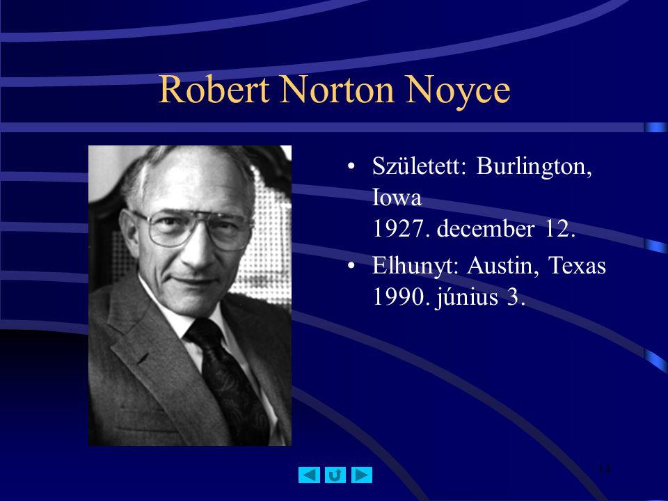 Robert Norton Noyce Született: Burlington, Iowa 1927. december 12.