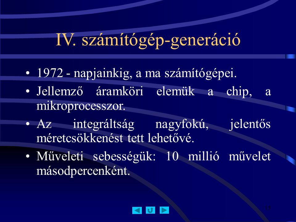 IV. számítógép-generáció