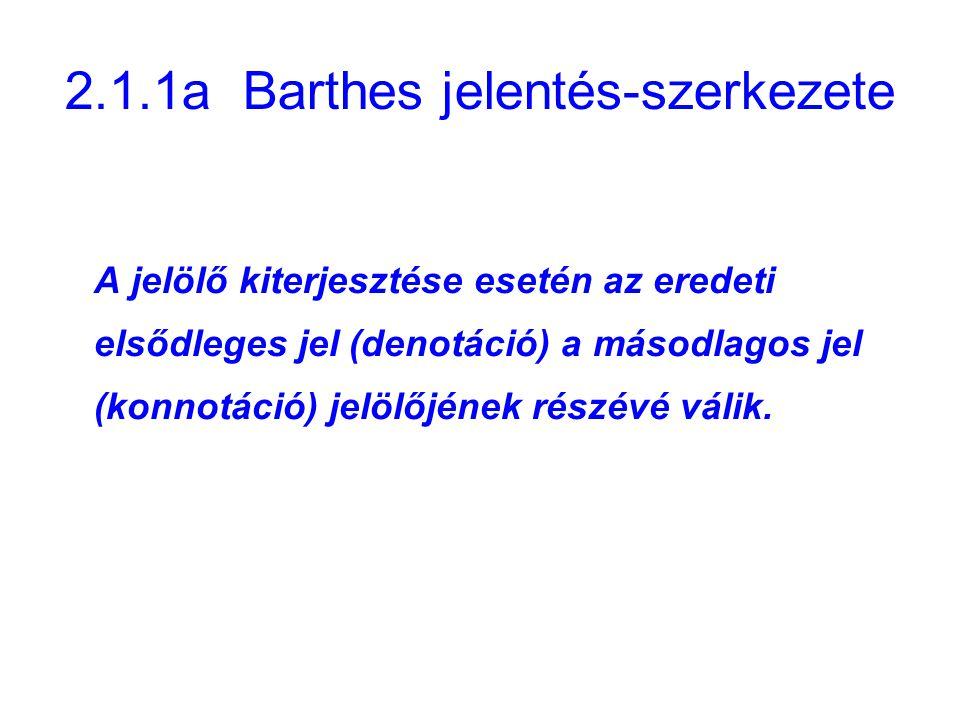 2.1.1a Barthes jelentés-szerkezete