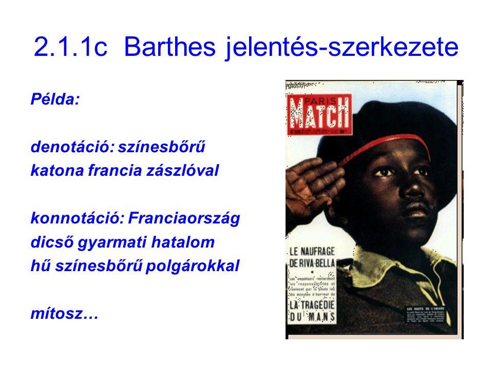2.1.1c Barthes jelentés-szerkezete
