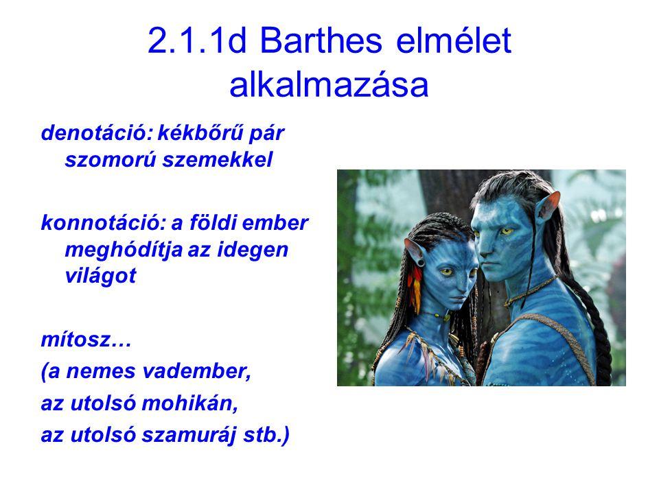 2.1.1d Barthes elmélet alkalmazása