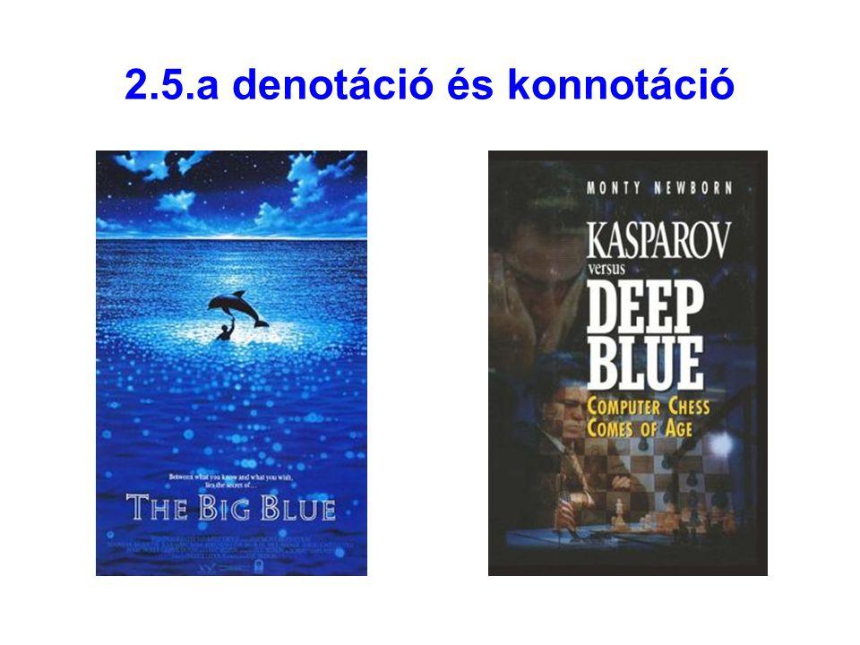 2.5.a denotáció és konnotáció