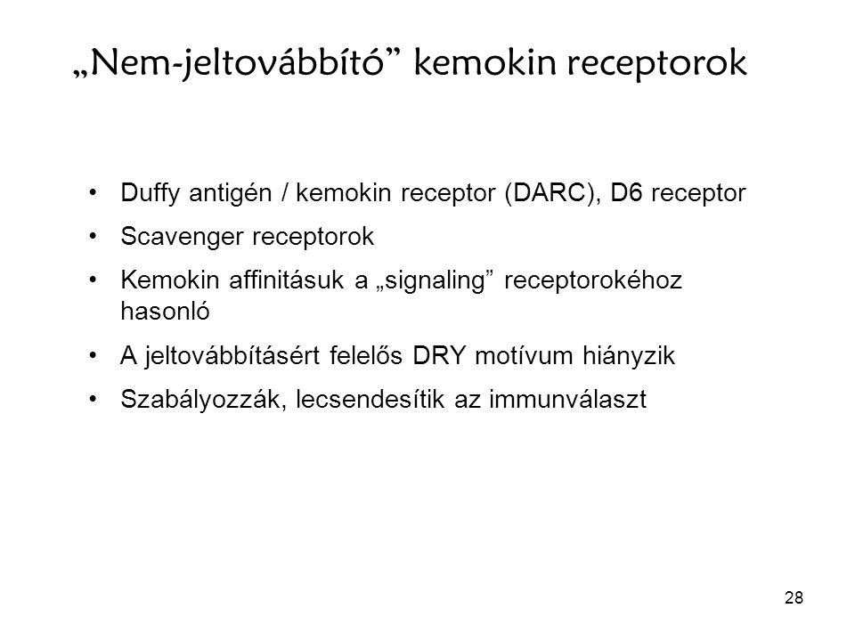 """""""Nem-jeltovábbító kemokin receptorok"""