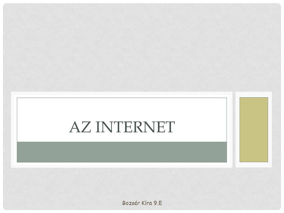 Az Internet Bozsér Kíra 9.E