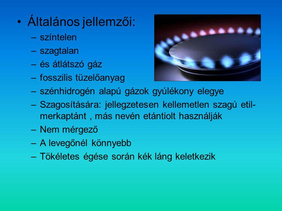 Általános jellemzői: színtelen szagtalan és átlátszó gáz
