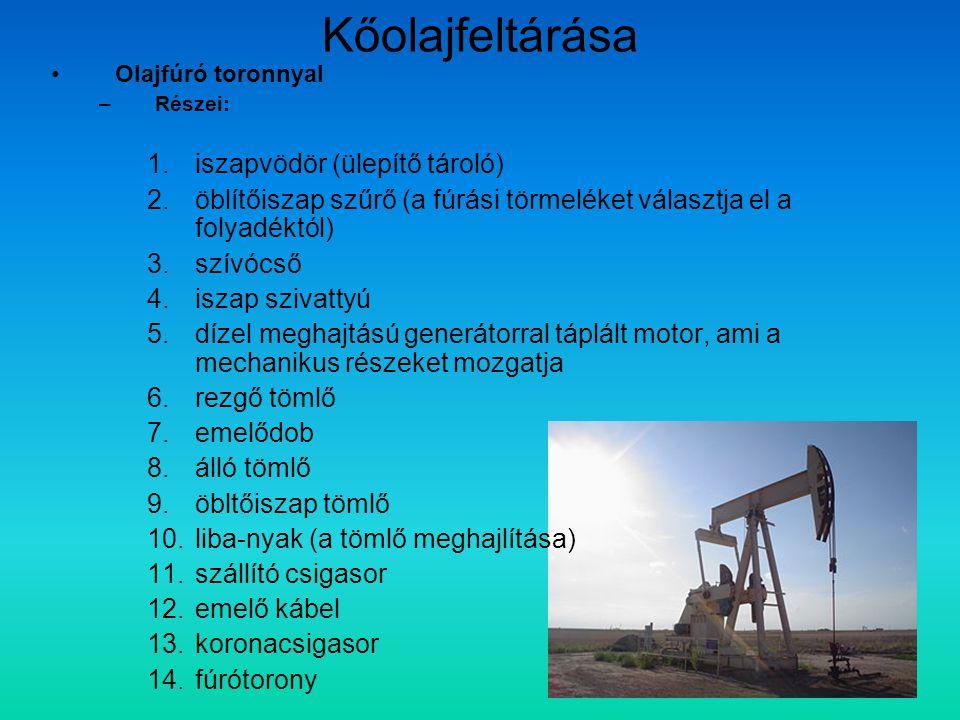 Kőolajfeltárása iszapvödör (ülepítő tároló)