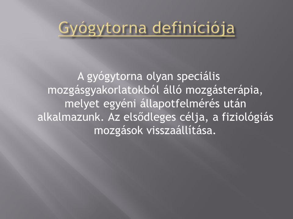Gyógytorna definíciója